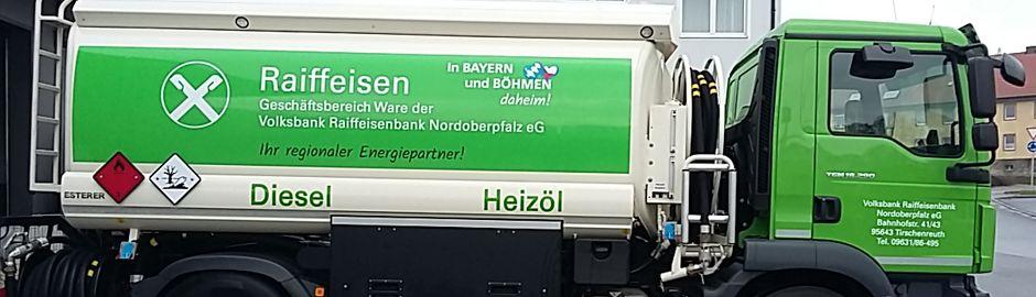 Heizöl, Briketts, Brennstoffe - Volksbank Raiffeisenbank Nordoberpfalz eG - Geschäftsbereich Ware