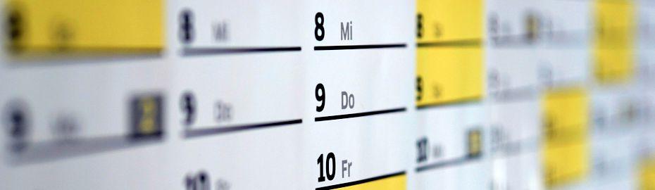 Terminkalender im Reifencenter - Volksbank Raiffeisenbank Nordoberpfalz eG - Geschäftsbereich Ware